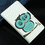 Sleeping owl PU Leather Full Body Protection Cover with Stand and Card Slot for Nokia Lumia N520