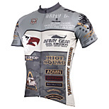 PaladinSport Men's Short Sleeve Cycling Jersey New Style Army DX536 100% Polyester