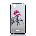 Elephant Pattern PC Material Phone Case for Wiko Birdy