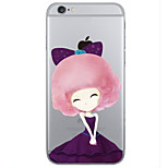 Flower Girl Pattern PC Hard Case with Screen Protector for iPhone 6