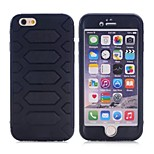 Silicone and ABS Back Tire Wave Case for Iphone 6 (Assorted Color)