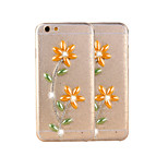 Fashion 3D Bling Flowers Pattern PC&TPU Back Cover for iPhone 6