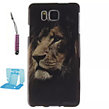 Lion Pattern TPU Phone Case  for Samsung Galaxy Alpha/G850