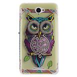 Fashion Design COCO FUN® Cute Purple Owl Pattern Soft TPU Back Case Cover for Sony E4