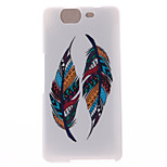Two Feather Patterns TPU Soft Cover for Wiko HIGHWAY