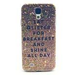 Kahvaltı parlaklık için samsung galaxy s4 i9500 için bütün gün desen zor durumda kapağı glitter yemek