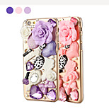Special Stereoscopic Rose and Accessories Pattern PC Back Cover Case for iPhone 6(Assorted Color)