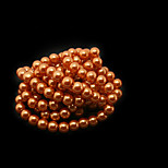 Beadia 3 Str(approx 430pcs) Glass Beads 6mm Round Imitation Pearl Beads Orange Color DIY Spacer Loose Beads