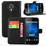 Litchi Around Open Bracket Leather Phone Wallet Card Suitable for Wiko  Darknight(Assorted Color)