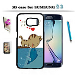 3 D Art Design To Protect The For Samsung Galaxy S6 And Touch Screen Pen Hd Membrane Bracket Combination