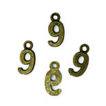 Beadia 100PCS Antique Bronze Alloy Charms 7x16mm Number 9 Pendants DIY Accessories