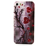 Branch Love Pattern PC Hard Back Cover Case for iPhone 4/4S