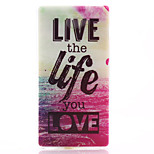 Love Life Pattern Material TPU Soft Phone Case for Sony Xperia M2