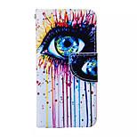 color de las lágrimas patrón de la PU caja del teléfono de cuero para el iphone 6