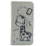 Music  Pattern PU Leather Phone Case for iPhone5/5S