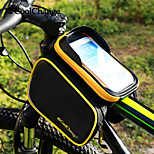 Coolchange Bike Bicycle Ride Frame Front Head Top Tube Bag&Double IPouch Cycling Pannier For 6.0 in Cell Phone