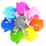 Cute Silicone Shark Infuser Loose Tea Leaf Strainer Herbal Spice Filter Diffuser(Random Color)