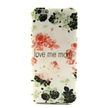 COCO FUN® Ink Safflower Pattern Soft TPU IMD Back Case Cover for iPhone 6