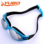 YOBO Unisex Swimming Goggles Silver Anti-Fog/Adjustable Size/Anti-UV/Anti-slip Strap PC Silica Gel