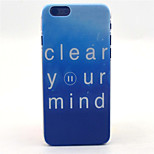 Cleaning Mind  Pattern PC Hard Case for iPhone 6