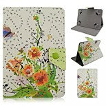 Flower Pattern Magnetic Flip Stand Universal PU Leather Case with Rhinestone for 7'' Tablet PC (Assorted Color)