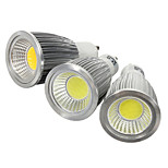 GU10 7W COB LED Spotlight Bulb Lamp  Light  White + Silver (AC 85~265V)