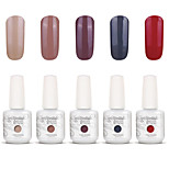 Gelpolish Nail Art Soak Off UV Nail Gel Polish Color Gel Manicure Kit 5 Colors Set S126