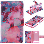 Red Sky Pattern PU Leather Full Body Case with Stand and Protective Film for Sony Xperia E1