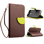 Leather Flip Leaf Style Stand Wallet Card Holder Case Cover for Motorola Moto G2 Phone Bags Cases + Lanyard