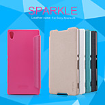 NILLKIN Sparkle Series Flip Ultra-thin PU Leather Cover Shell for Sony Xperia Z4(Assorted Colors)
