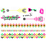 1 PC Fluorescent Color Bracelets Tattoos Stickers  for Body Makeup W326