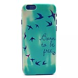Swallows Pattern PC Material Phone Case for iPhone 6