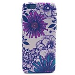 Purple Flowers Pattern PC Material Phone Case for iPhone 6