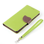 Fashion Leaf Design Style PU Wallet Leather Case Cover For iPhone 6 Plus 5.5 inch Flip Leather Case