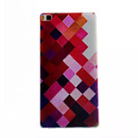 Color Plaid Pattern Slim TPU Phone Case for Huawei P8