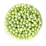 Beadia 100g(Approx 1000Pcs)  ABS Pearl Beads 6mm Round Light Green Color Plastic Loose Beads For DIY Jewelry Making