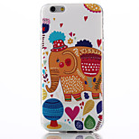 Elephant Pattern TPU Soft Material Phone Case for iPhone 6