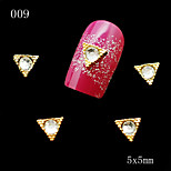 009 10pcs/lot Triangles Golden Rhinestone Nail Metal Alloy Nail Tools 3D DIY Nail Jewelry Decoration