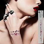 12pc flower & butterfly Waterproof Body Art Tattoo Pattern Temporary Tattoos Sticker(21cm*3cm)