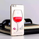 3D Stereoscopic Red Wine Transparent TPU Material Phone Case for iPhone 6(Assorted Colors)