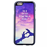 Love Each Other Pattern Paste Paper Painting TPU Phone Case For iPhone 6