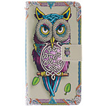 Fashion Design COCO FUN® Cute Purple Owl Pattern PU Leather Wallet Case Cover for LG G3