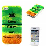 Keep Calm Pattern TPU Phone Case For iPhone 4/4S