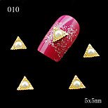 010 10pcs/lot DIY Nail Jewelry Decoration Triangles 3D Golden Rhinestone Nail Metal Alloy Nail Tools