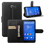 Litchi Around Open Bracket Leather Phone Wallet Card Suitable for Sony E4(Assorted Color)