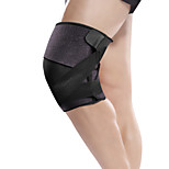 Ollas Unisex Outdoor Fitness Black Nylon Thin Knee/Legs Protective Gear with Flexible Pressure Cuff Free Size S9403