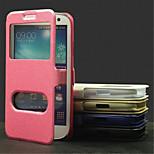 sima selyem minta kártyát táska pu teljes test nyissa ki az ablakot tok Samsung S3 i9300 (vegyes színes)