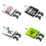 hud sticker dækning decal til ps3 play station 3 slim + 2 controllere skind