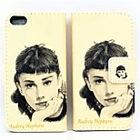 Monroe Pattern PU Leather Phone Case for iPhone 5/5S