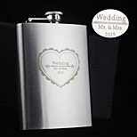 Personalized Gift 8oz Heart-shaped Design Stainless Steel Flask